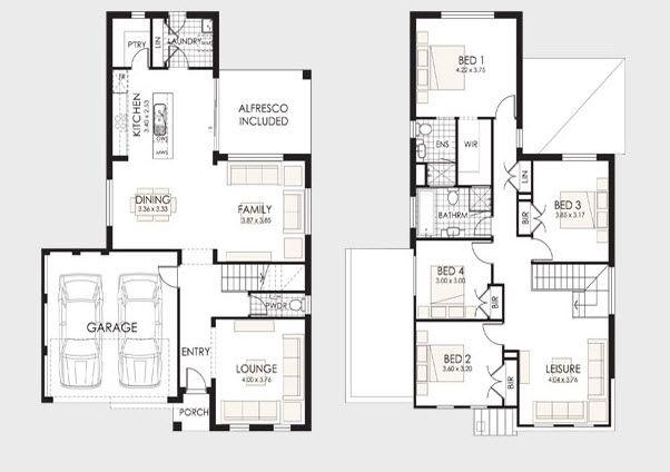 156 best dos plantas images on pinterest house for Planos de casas de dos plantas