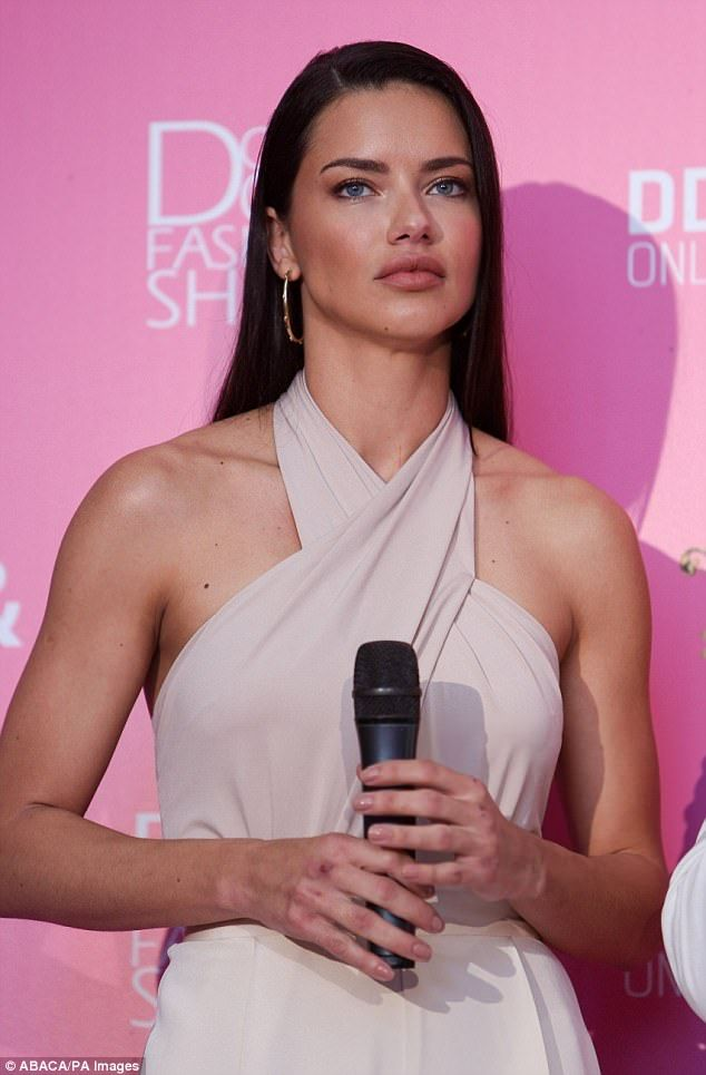 Stepping out: Adriana later took part in the press conferance after the Dosso Dossi show