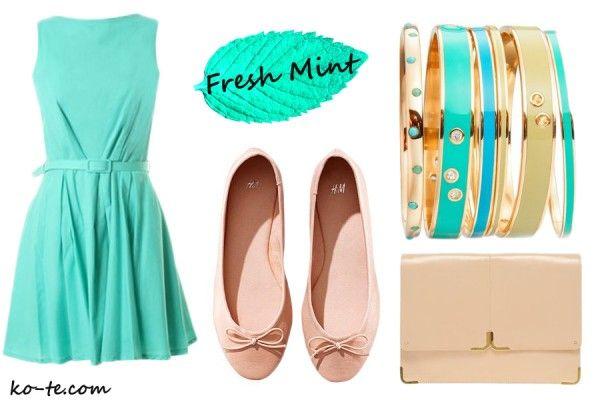 Mint dress look