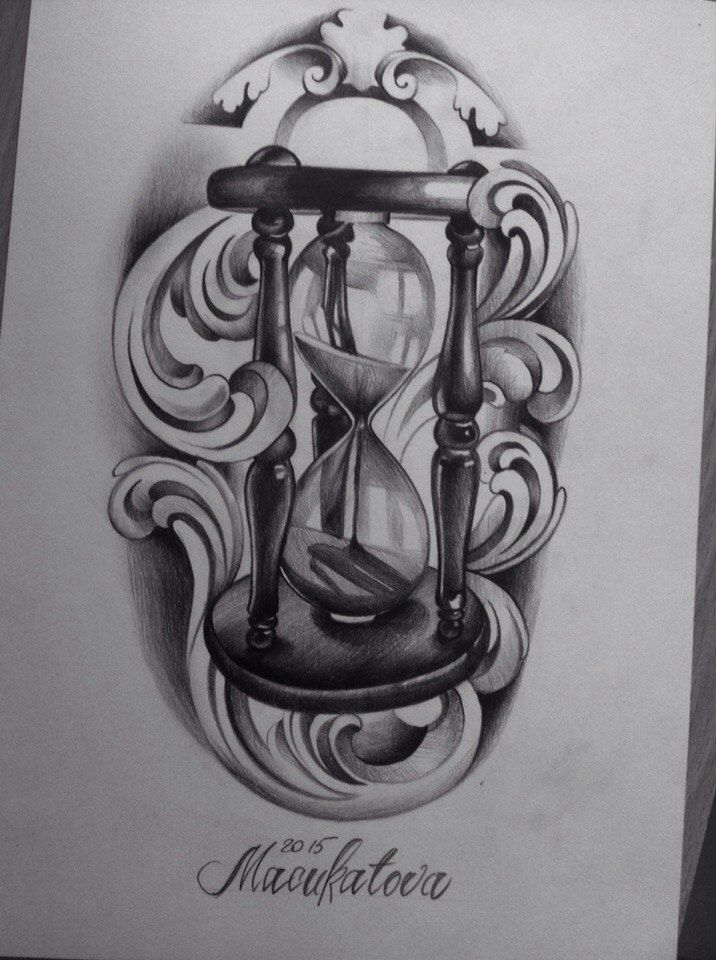 Sand clock tattoo designs  223 best Tattoos images on Pinterest | Drawings, Tattoo designs ...