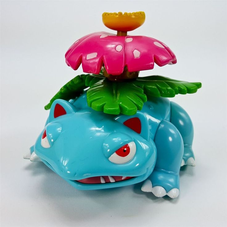 Nintendo Pokemon Venosaur 2000 Hasbro Figure Toy Vine Whip Flower Spins on Head