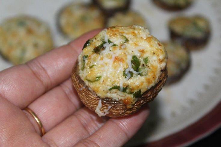 Stuffed Mushroom In Airfrier Air Fryer Recipes Air Fryer Recipes Vegetables Air Fried Food