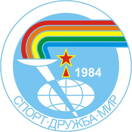 This picture was the symbol of the Friendship Games which took place in the summer of 1984. After the 1980 Olympic boycott, communist countries and other other countries who opposed the US decided they would boycott the 1984 Summer Olympics that took place in Los Angeles. The Boycotting countries formed the Friendship Games that year in substitution of the Olympics.