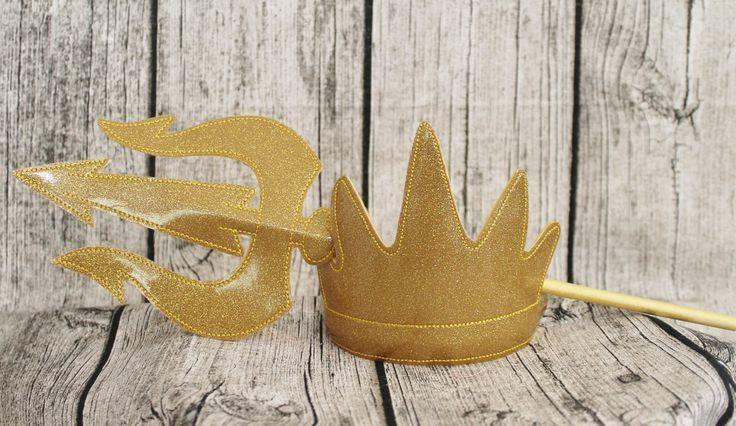 Ursula mal mar bruja villano rey Tritón inspirado corona de la