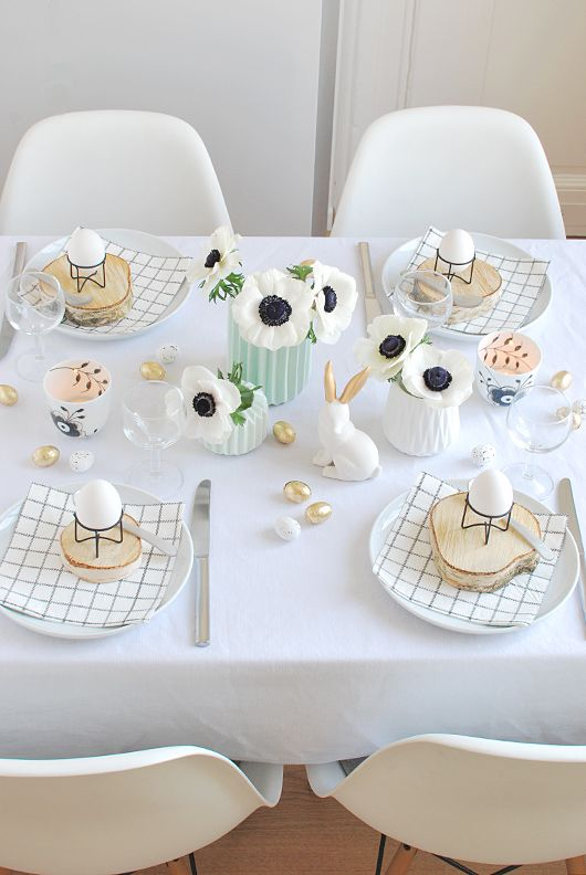 Wielkanocne inspiracje. Dekoracja stołu na wielkanocne śniadanie #wielkanoc #intermarche