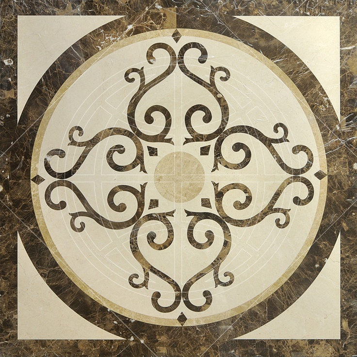 Emperador Dark Marble Floor Medallions 48 : Best images about square marble medallions on pinterest