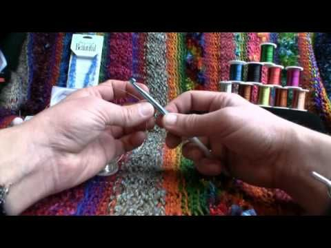 Tutorial on how to crochet using jewelry wire.