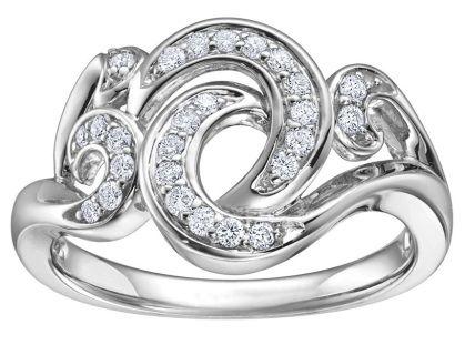 0.25ct White gold diamond ring