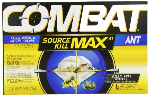 Combat 766686/55901 Quick Kill Ant Bait by Combat. $3.97. Contains 0.01% Fipronil. Combat quick kill ant bait kills common household ants, including the queen. Works overnight. 6 Bait stations. Starts killing within hour. Combat Source Kill safeguards your home with complete ant control. These baits are specially formulated with the Hydramethylnon insecticide that will kill the queen and destroy the entire colony. These easy-to-use, child-resistant baits need no activation a...