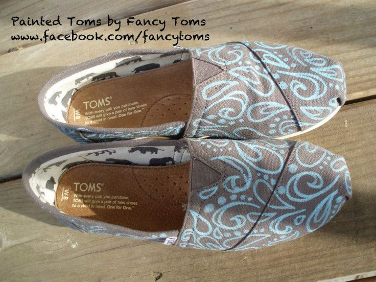 Handpainted Custom TOMS Shoes Swirls and Spots by FancyToms - DIY