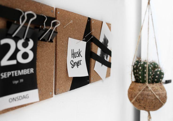 DIY kork opslagstavle / cork board - Katarina Natalie