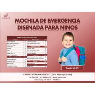 Mochila De Emergencia (Niños)