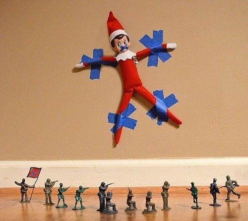 15 Witty & Imaginative Elf On The Shelf Ideas
