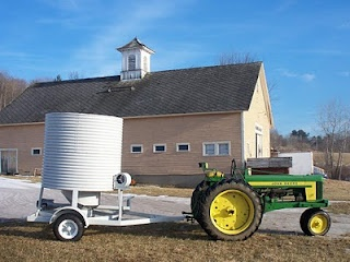 A completely hand made mobile grain dryer, super cute! - White Oak Grains