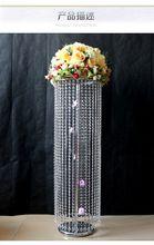 Бесплатная Доставка 100 см (H) свадьба хрустальной колонны хрустальная люстра свадебный цветок стенд с держатель для свечи украшение Партии()
