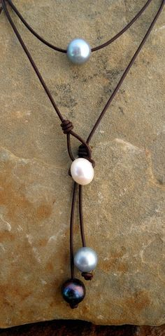 don't I have any thin leather?  and will my tapered awl enlarge the holes in my freshwater pearl beads?
