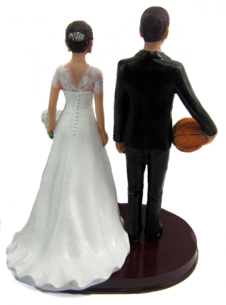 BobbleGram Inc. - Short Bride and Tall Basketball Player Groom Cake Topper, $184.99 (http://www.bobblegr.am/short-bride-and-tall-basketball-player-groom-cake-topper/)