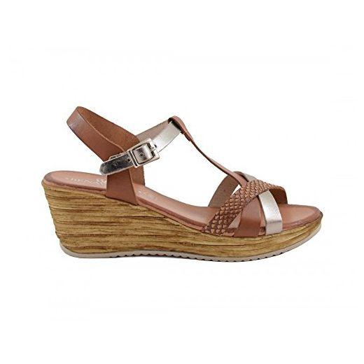 Sandals Damen Sandalen, Gold - Goldfarben - Größe: 40