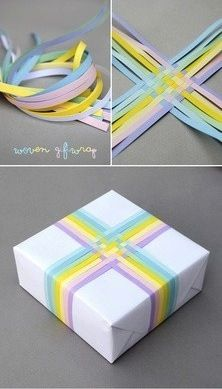Stripes wrapping idea. Pin and #DIY! :) #gift #wrap