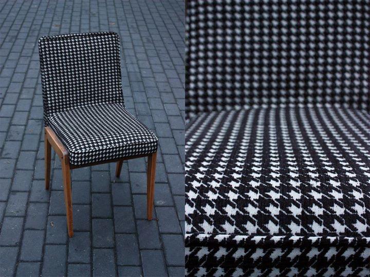 krzesło AGA z lat 70 -tych wyprodukowane przez Obornickie Fabryki Mebli - Zjednoczenie Przemysłu Meblarskiego
