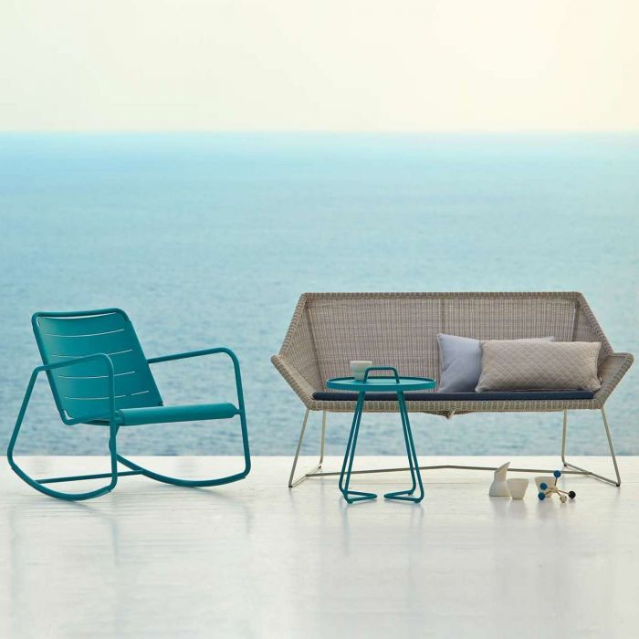 Breeze 2 Seater Lounge Sofa Cane Line Lounge Furniture Modern Outdoor Furniture Balcony Furniture