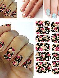 1pcs Stiker Nail Art Decals Untuk DIY UV Gel Polish Nail, Tips Kuku Stiker