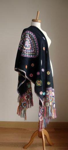 Speciale aanbieding voor Galina zwarte sjaal van crochetlab op Etsy