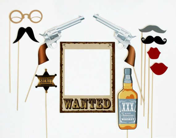 Western Themed Photobooth Props. Photo Booth door LittleRetreats €42