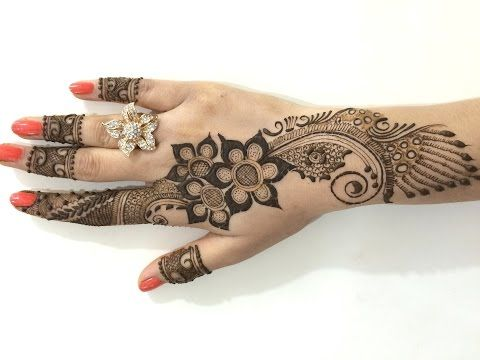 Best Ornament Unique Arabic Henna Mehndi:Stylist Mehendi Designs For Hands(Step By MehndiArtistica) - YouTube