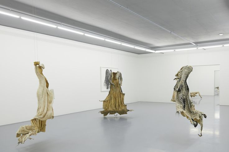 Installation view of a gallery with works by Nandipha Mntambo. Courtesy of Zeitz MOCAA.