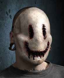 scary mask breaking dirty horror news smiley halloween masks now available