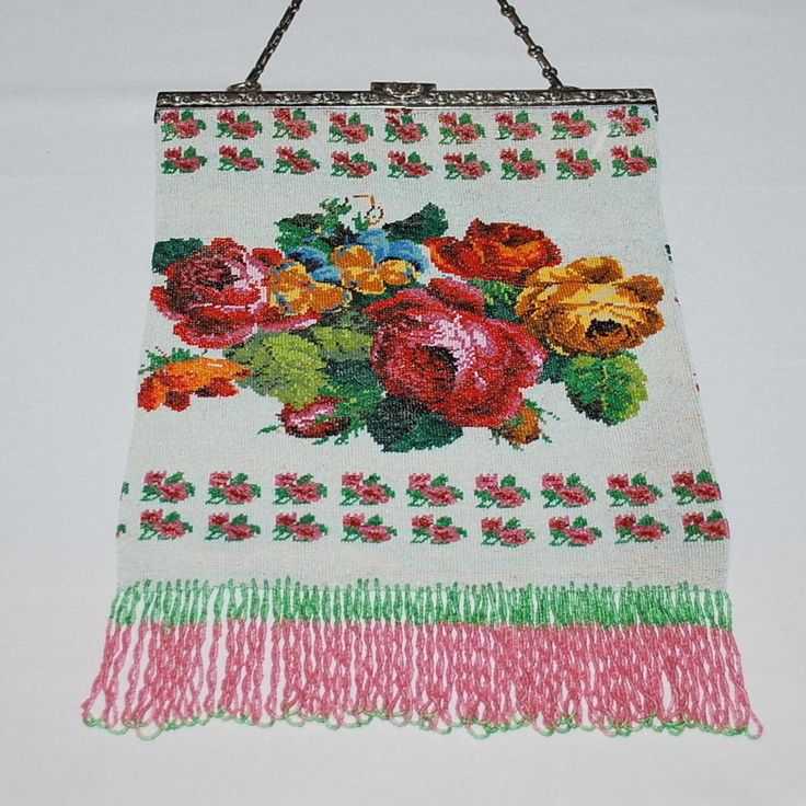 Bountiful Micro Beaded Flowers Galore Floral Purse 830 S Frame from everydaysagift on Ruby Lane
