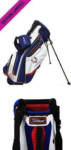 """Sac de golf trépied Titleist logoté """"Ryder Cup 2018"""" disponible en édition limité sur golfplus.fr"""