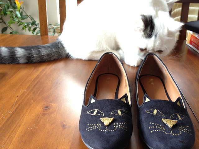 black cat flats, diy kitty loafer, charlotte olympia knockoff, diy