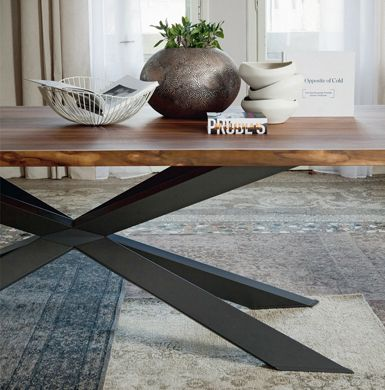 Spyder Table with Wood Top by Cattelan Italia