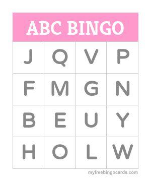 Kids Bingo Cards & Educational Games