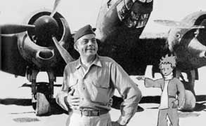 The author of the Little Prince, Antoine de Exupery