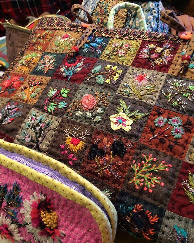 Le sac Mysore de @facilececile : avec les restes on fait des beautés n'est ce pas ? #facilececile #broderie #embroidery #sac #diy