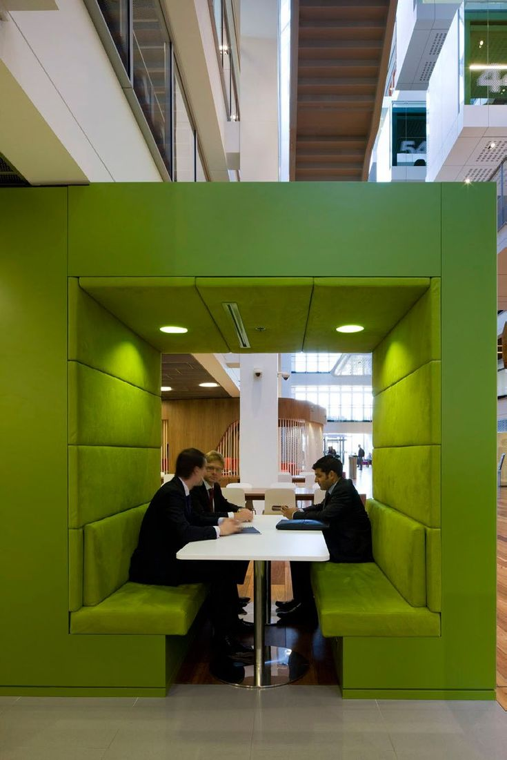 Meeting banquette / room within a room -- One Shelley Street Office by Clive Wilkinson Architects