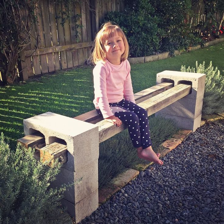 Daddy finished our recycled bench seat! #recycledmaterials #recycledfurniture…