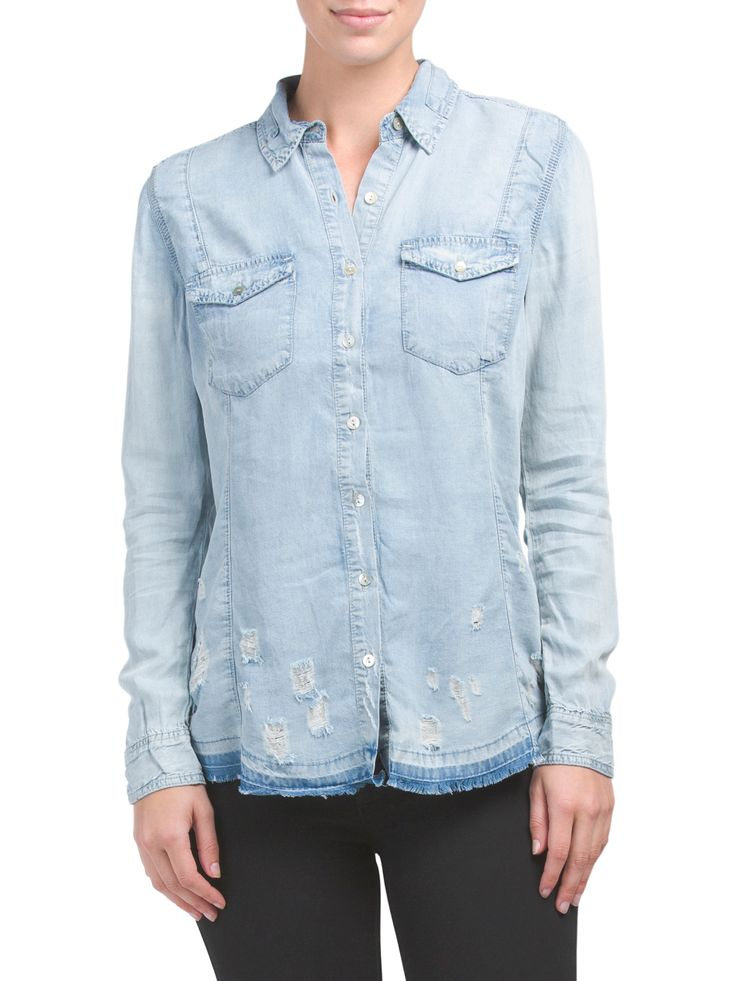 Brain Bleach Light Denim Shirt