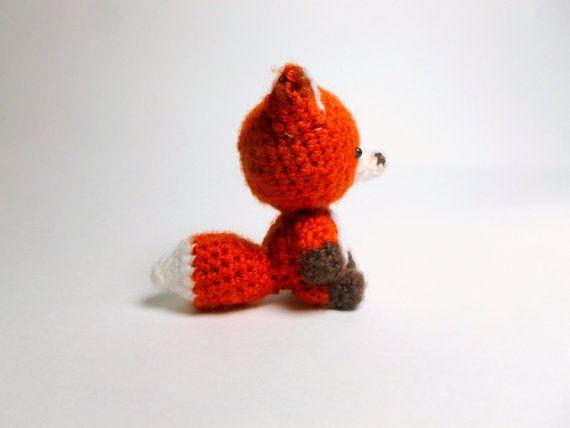 Crochet Animal Crochet Fox Plush Fox Crochet by theLoveofCats