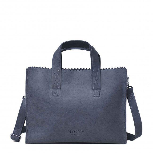 MYOMY My Paper Bag Handbag Cross Body Hunter Blue Grey