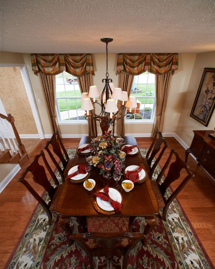 35 best images about wayne homes dining rooms on pinterest for Model home dining room