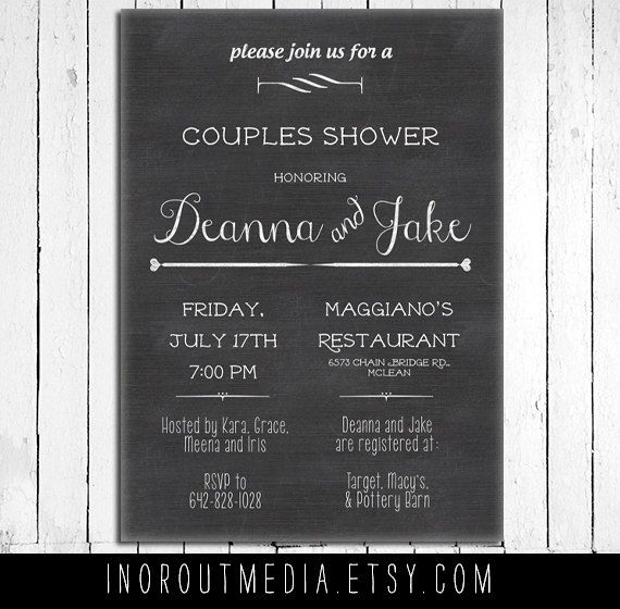 rustic wedding shower invite couples shower invitation the stacked chalkboard rustic bride and groom rustic bridal shower invite
