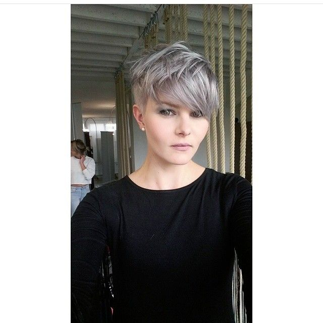 Love the color! I do want to do a grey pixie one of these days!