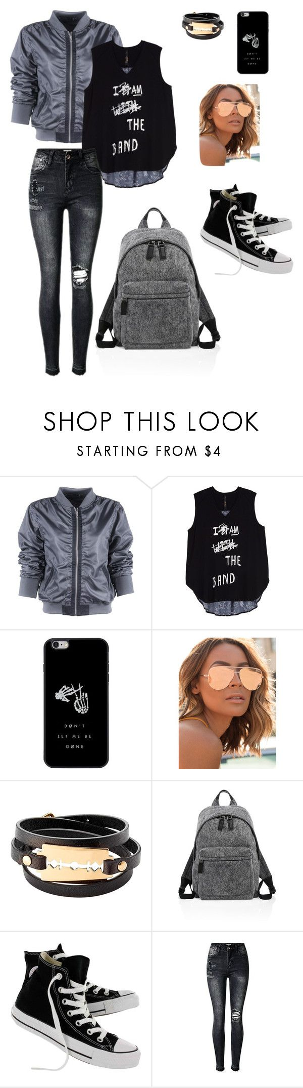 """""""Casual"""" by fannyfelia on Polyvore featuring Melissa McCarthy Seven7, Quay, McQ by Alexander McQueen, Marc Jacobs, Converse and plus size clothing"""