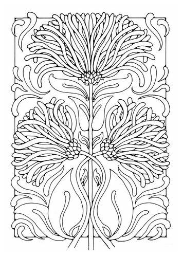 Tekening-patroon: Bloem / Plant *Drawing-Template: Flower / Plant