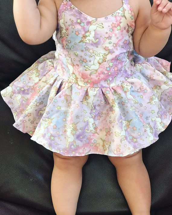 Unicorn Floral Printed Dress Infant Kid Girl Casual Costume Cute Fashion New HOT