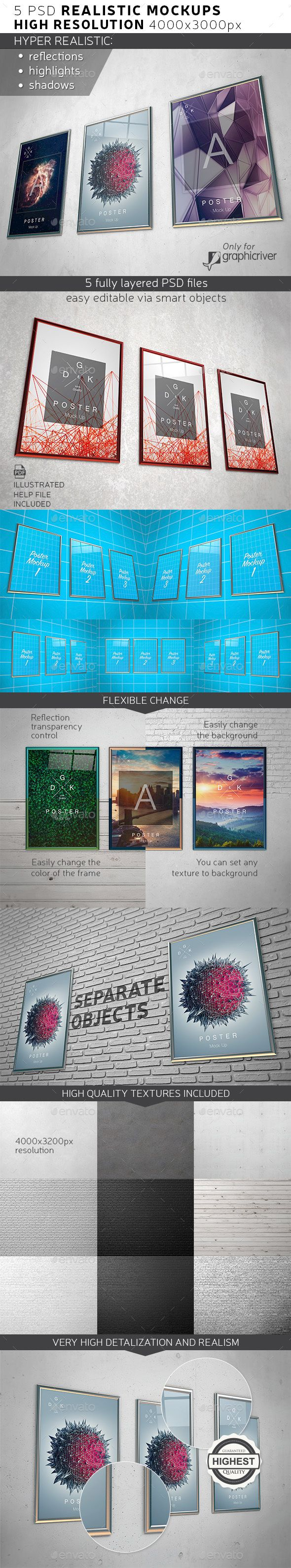 Posters / Print Mock-up by Dkgoodart If you want to present your photography or design layout in a beautiful and aesthetic form, this mockup will be very helpful to yo